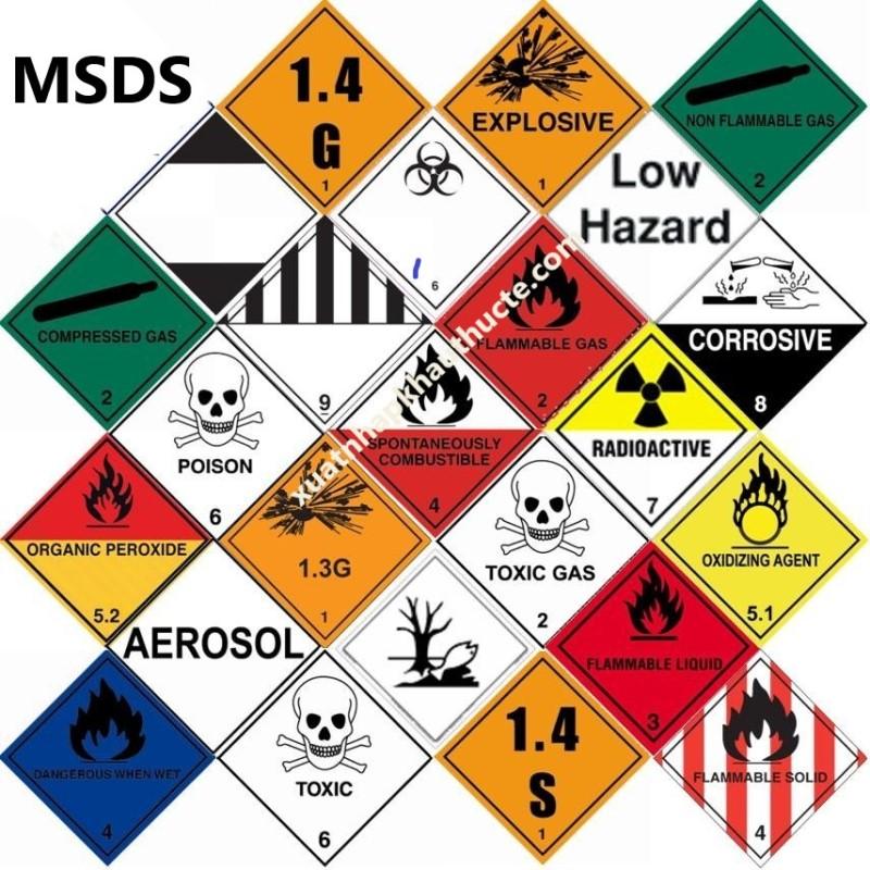 Bảng chỉ dẫn an toàn hóa chất - MSDS